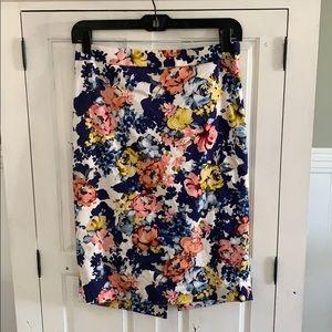 Beautiful Floral Print Pencil Skirt